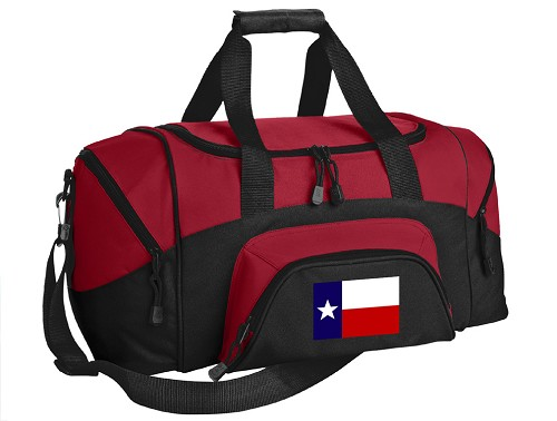 Texas Flag Small Duffle Bag Red