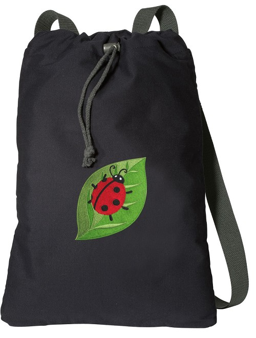 Ladybug Cotton Drawstring Bag