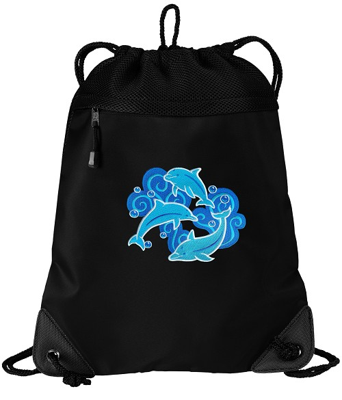 DOLPHIN Drawstring Backpack-MESH & MICROFIBER
