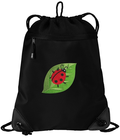 Ladybug Drawstring Bag String Backpack