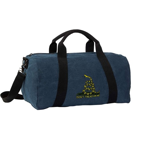 Don't Tread on Me Duffle Bag COOL Dye Washed Blue