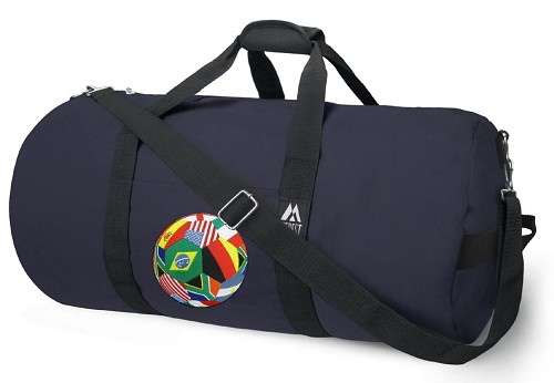 World Soccer Duffel Bag Blue