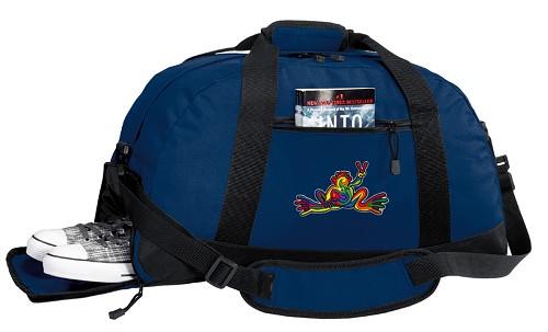 Peace Frogs Duffle Bag Navy
