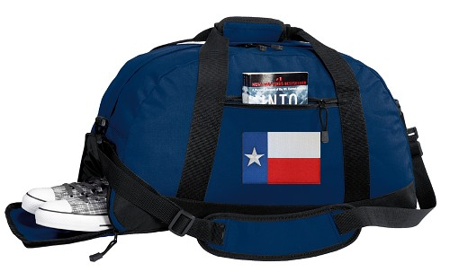 Texas Flag Duffle Bag Navy
