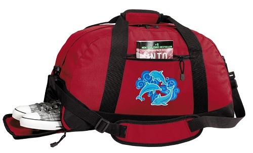 DOLPHINS Duffle Bag Red