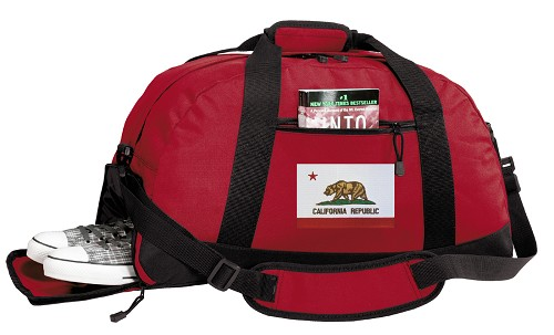 California Flag Duffle Bag Red