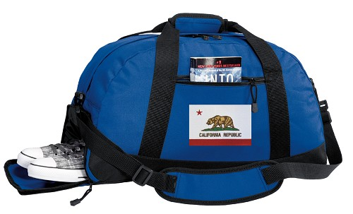 California Flag Duffle Bag Royal
