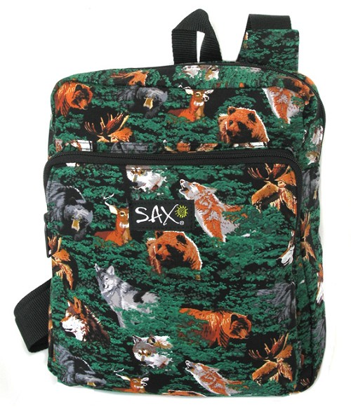 Wolf Bear Deer Backpack Small