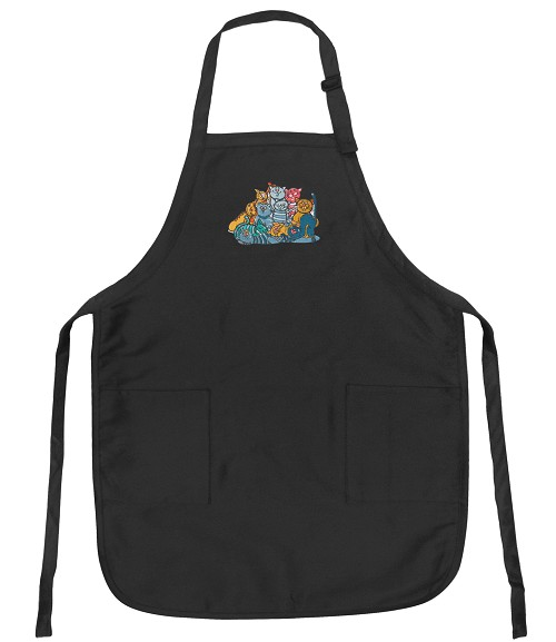 Crazy Cat Deluxe Apron