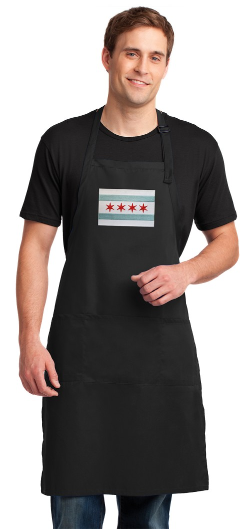 Chicago Flag Large Apron