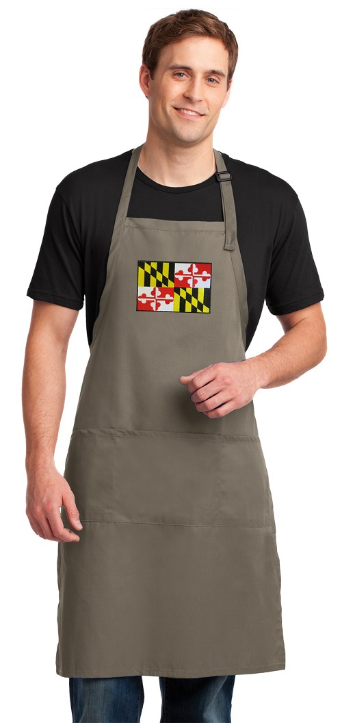 Maryland Large Apron Khaki