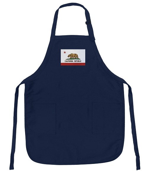 California Flag Apron Navy