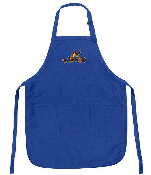 Peace Frogs Aprons Royal Blue