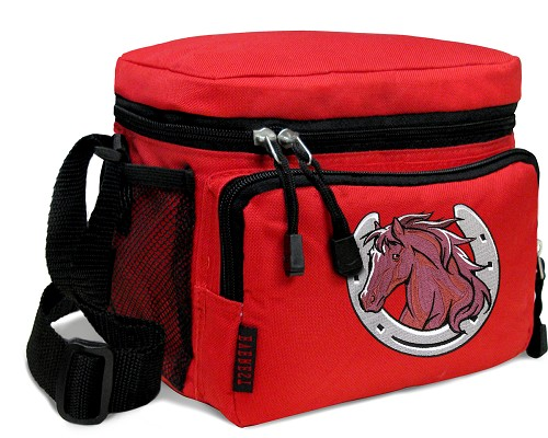 Horse Lunch Box Cooler Bag Insulated Red