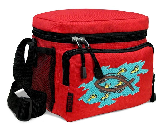 Christian Lunch Box Cooler Bag Insulated Red