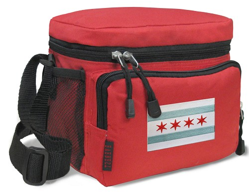 Chicago Flag Lunch Bag Navy