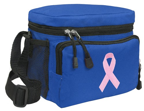 Pink Ribbon Lunch Box Cooler Bag Insulated Royal