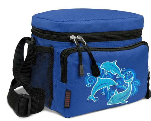 DOLPHINS Lunch Box Cooler Bag Insulated Royal