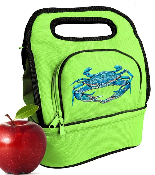 BLUE CRAB Lunch Bag Green