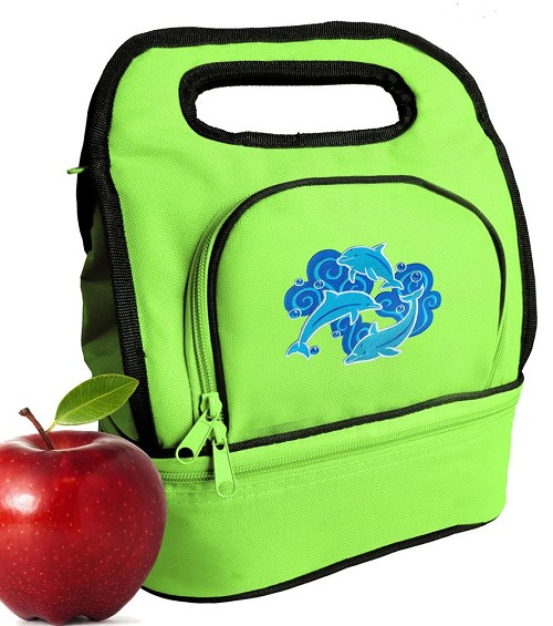 Dolphins Lover Lunch Bag Green