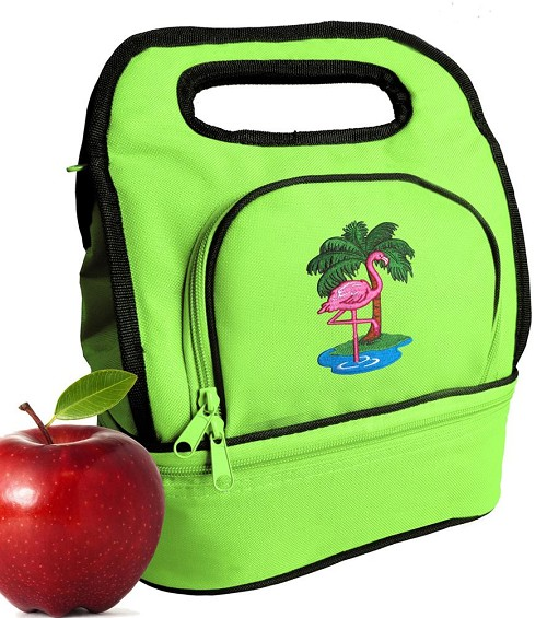 Flamingo Lunch Bag Green