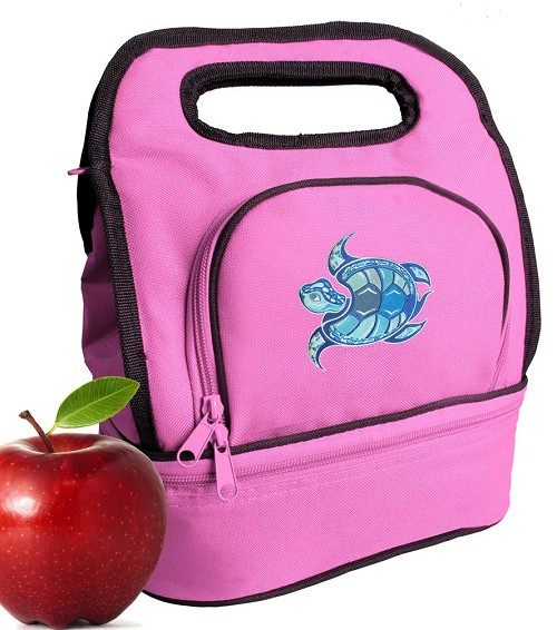 Sea Turtle Lunch Bag Pink