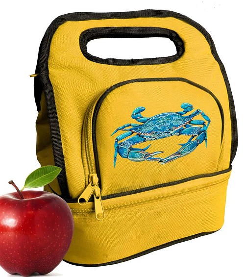 BLUE CRAB Lunch Bag Gold
