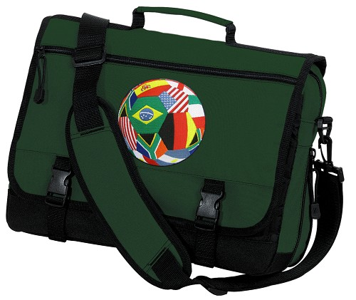 Soccer Messenger Bag Green