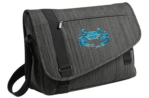 BLUE CRAB Messenger Laptop Bag Stylish Charcoal