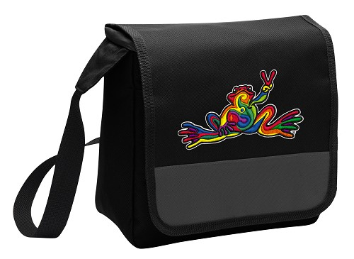 Peace Frogs Lunch Bag Cooler Black