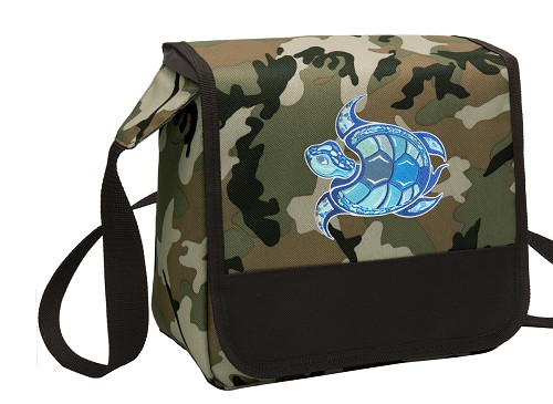 Sea Turtle Lunch Bag Cooler Camo