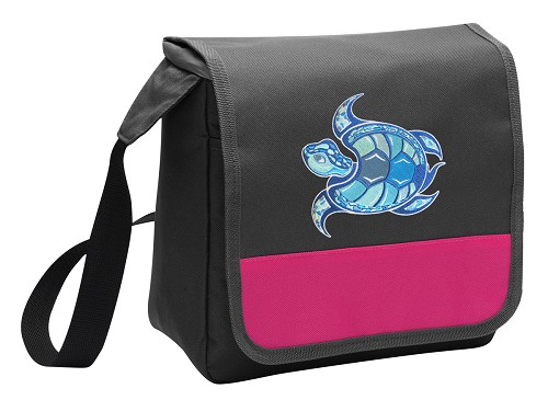 Sea Turtle Lunch Bag Cooler Pink