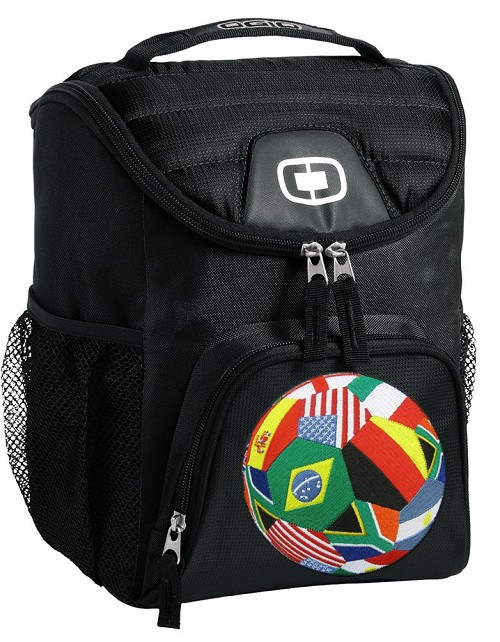 World Flag Soccer Lunch Bag Insulated Lunch Cooler Black
