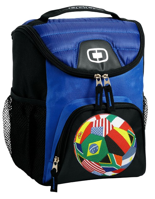 World Soccer Lunch Bag Insulated Lunch Cooler Blue