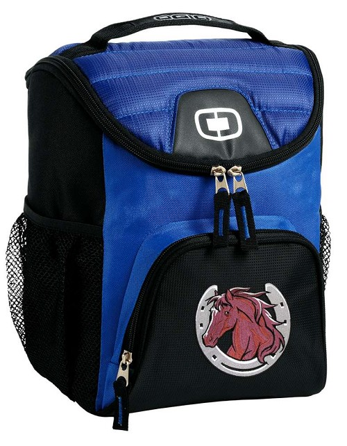 Horse Lunch Bag Insulated Lunch Cooler Blue