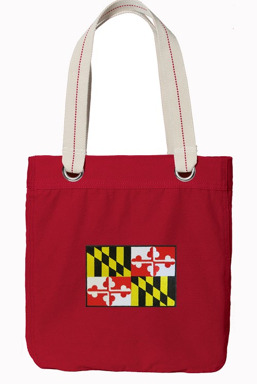 Maryland Tote Bag RICH COTTON CANVAS Red