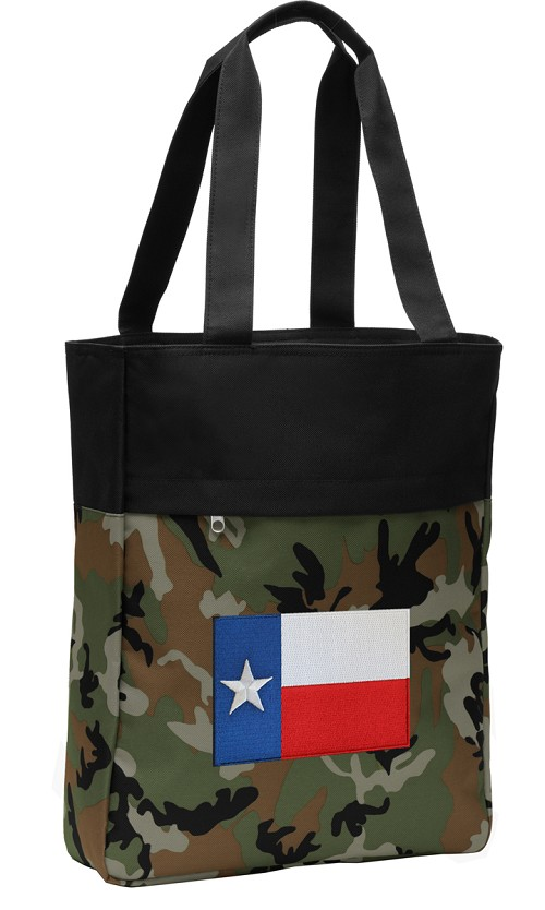 Texas Flag Tote Bag Everyday Carryall Camo