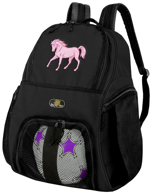 Horse Soccer Backpack or Horse Theme Volleyball Bag for Boys or Girls