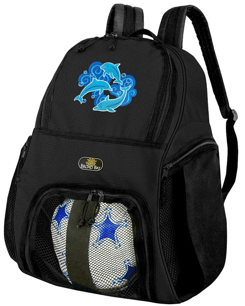 Dolphin Soccer Backpack or Dolphins Volleyball Bag for Boys or Girls
