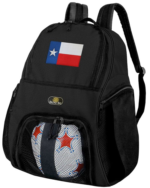 Texas Soccer Backpack or Texas Flag Volleyball Bag for Boys or Girls