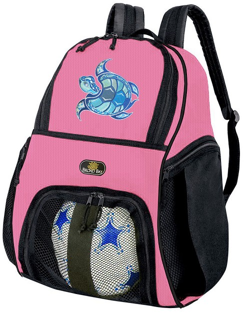 Girls Sea Turtle Soccer Backpack or Turtle Volleyball Bag