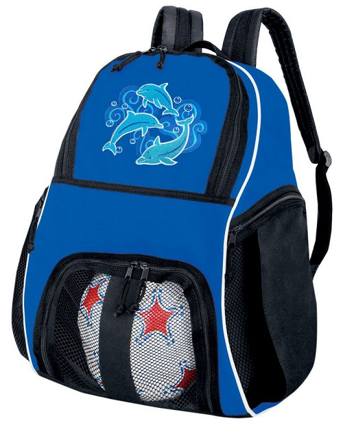 DOLPHINS Soccer Backpack Blue