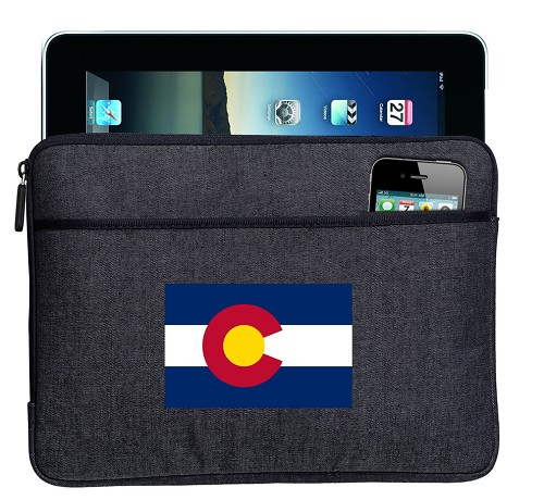 Colorado Ipad Sleeve Blue