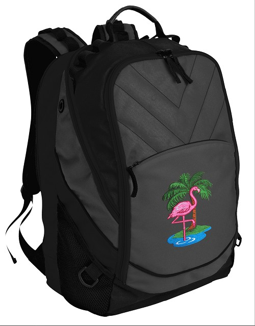 Flamingo Deluxe Laptop Backpack Black