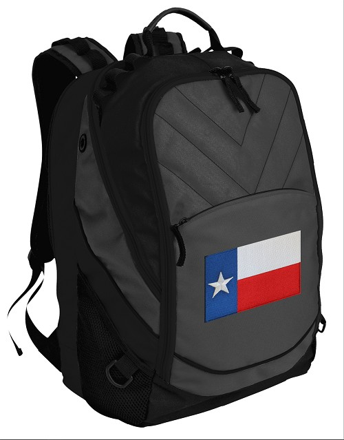 Texas Flag Deluxe Laptop Backpack Black