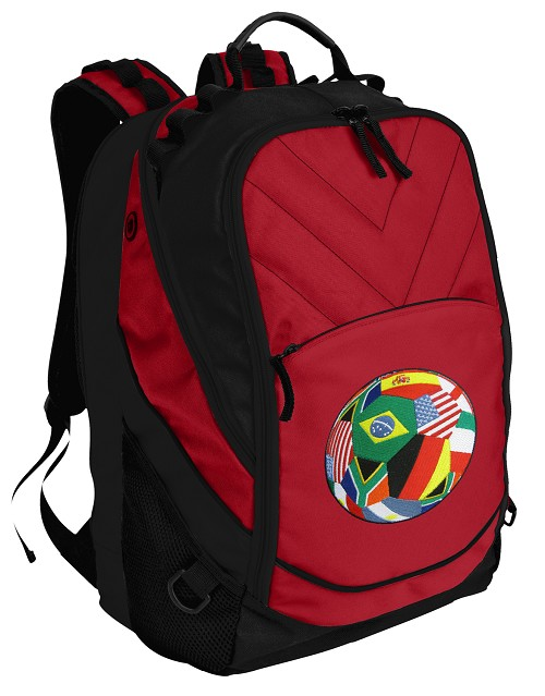 World Soccer Backpack Laptop Bag