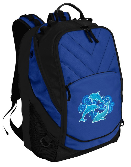 DOLPHINS Deluxe Computer Backpack Blue