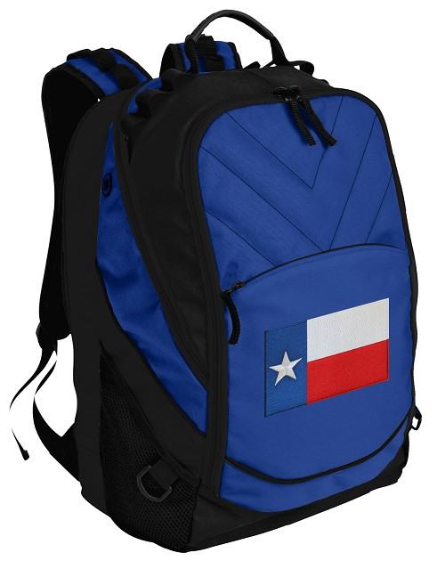 Texas Flag Deluxe Computer Backpack Blue