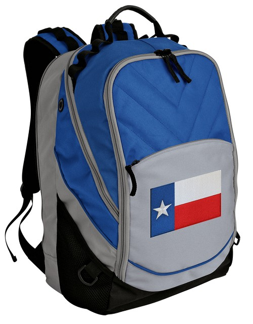 Texas Flag Deluxe Laptop Backpack Blue