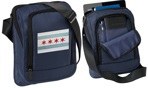 Chicago Flag Tablet or Ipad Shoulder Bag Navy
